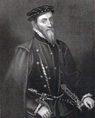 Sir Thomas Gresham, British merchant, Tudor 16th century costumes