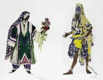 Fakir costume. Russian ballet. Fantasie costume designs. Leon Bakst.