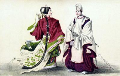 Nagasaki Friends. Japan historical costumes. antique kimonos. traditional japanese clothing.