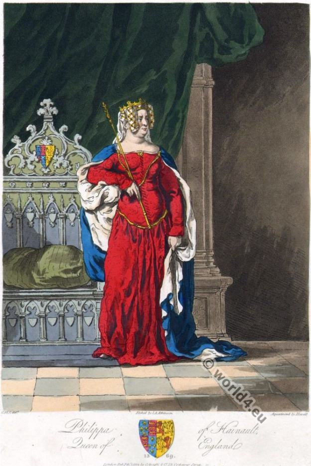 Phillipa of Hainault. Middle ages Queen of England.