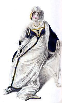 Fashion London Regency costume. Rudolph Ackermann. Georgian era fashion