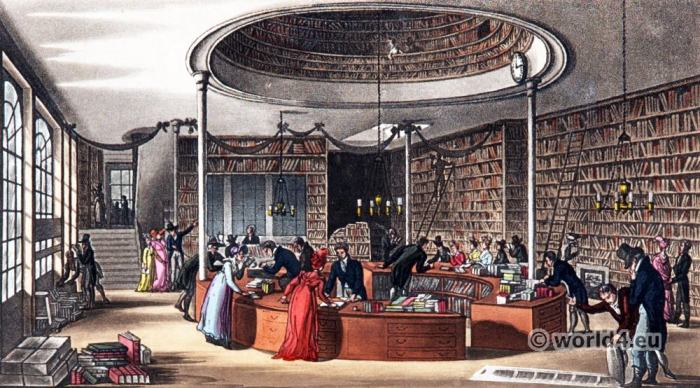 The Temple of Muses, Finsbury Square London. Regency era architecture