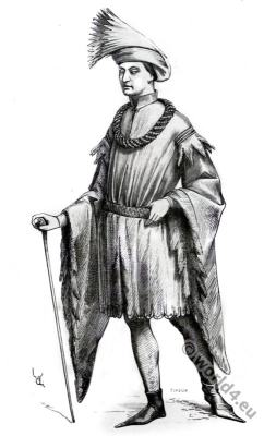 Adornment, Gentleman, 15th century. Renaissance fashion era
