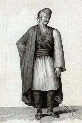 Soldier,  Albania, Albanian, Albanaise, traditional, costume
