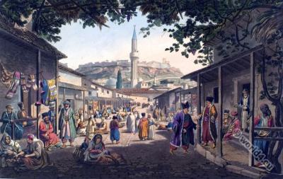 Bazar, Greece, Athens, Ottoman, empire, fashion, history, historical, dress, costumes,