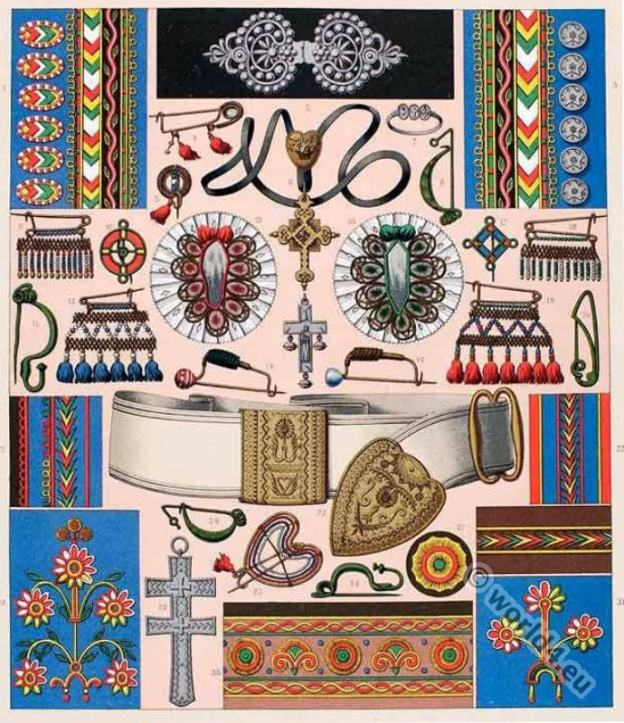 Brittany. Breton. Traditional embroidery pattern.