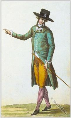 Homme en chenille. Cabinet des Modes. Fashion History. 18th century costumes. rococo fashion.