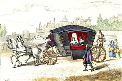 Prime Carriages. 17th Century fashion. Baroque costumes.