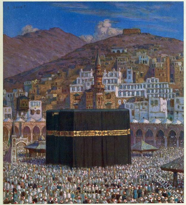 Kaaba. Mekka. Islam. Holy Mosque. The great pilgrimage