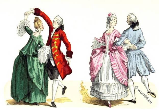 Hoop, Panniers, Justaucorps, Rococo, fashion, Ballroom, dresses,