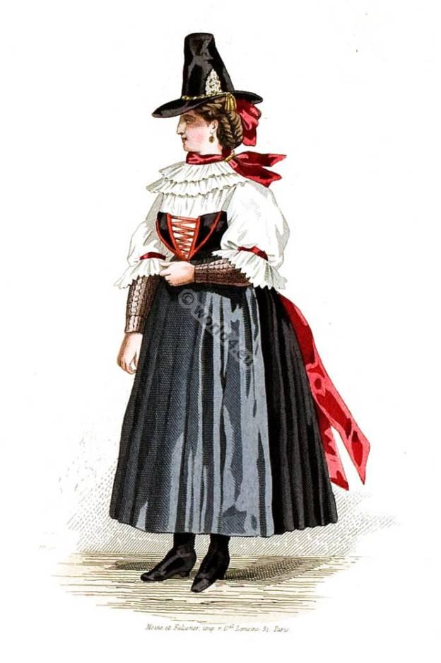 Traditional Carinthia woman. Austria national costume.