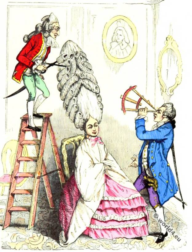 Coiffure, échelle, Rococo, fashion, hairstyle,