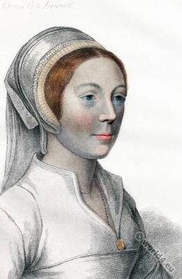 Catherine Howard. Queen of England. Tudor era. Renaissance fashion.