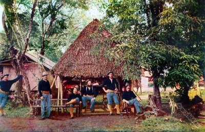 American soldiers. Skirmish Cuba. Military uniforms. American colonialism. Spanish–American War.