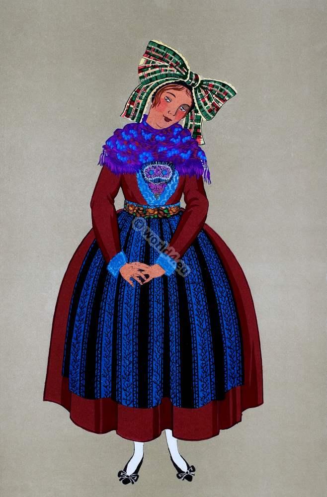 French national costumes. Les costumes regionaux de la ...