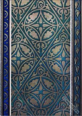 Byzantine art. Byzantine Frescoes. Trabzon monastery. Chapel of Holy Trinity to Zisa. Palermo. Middle ages Ornament.