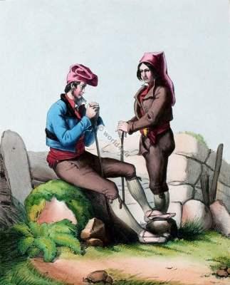france,Traditional,costume,Pyrenees,Aragonais,Aragonese,Costumes des Pyrénnées,folk,dresses,,French,national
