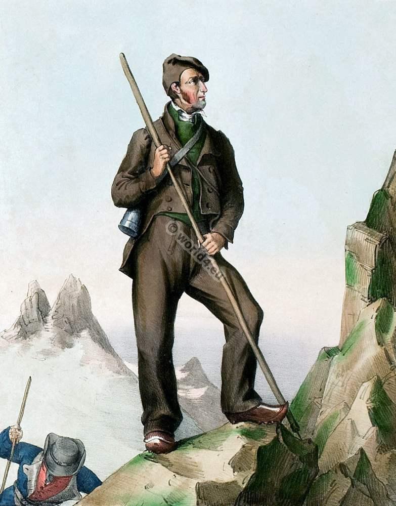 Guide,Ramond,mont perdu,france,traditional,traditionnel,costume,Pyrenees,Costumes des Pyrénnées,folk,dresses,Édouard Pingret,Ancely,René