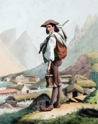 chevrier,france,traditional,traditionnel,costume,pyrenees,costumes des pyrénnées,folk,dresses,Édouard pingret