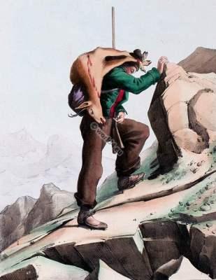 Chasseur,Ronsard,Maladeta.france,traditional,traditionnel,costume,Pyrenees,Costumes des Pyrénnées,folk,dresses,Édouard Pingret