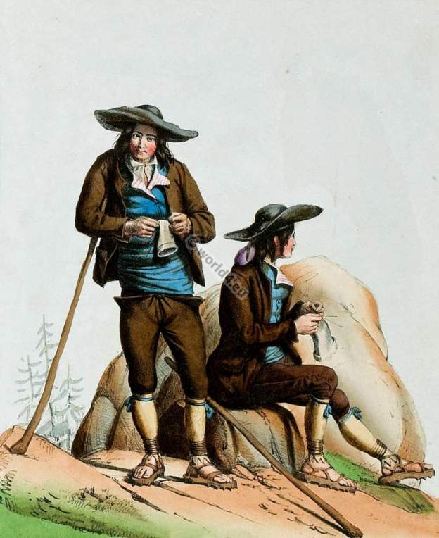 Contrebandier,Gaveury,france,traditional,traditionnel,costume,pyrenees,costumes des pyrénnées,folk,dresses,Édouard pingret