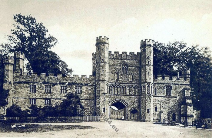 Battle Abbey. Battle of Hastings. St. Martin's Abbey of the Place of Battle. William the Conqueror. Medieval architecture England.