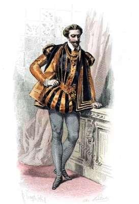 Costume Renaissance. Cour de Henri II. 16th century fashion.