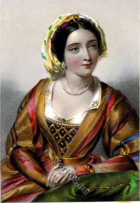 Eleanor of Castile. Queen consort. Medieval England costumes. Nobility. 13th century clothing.