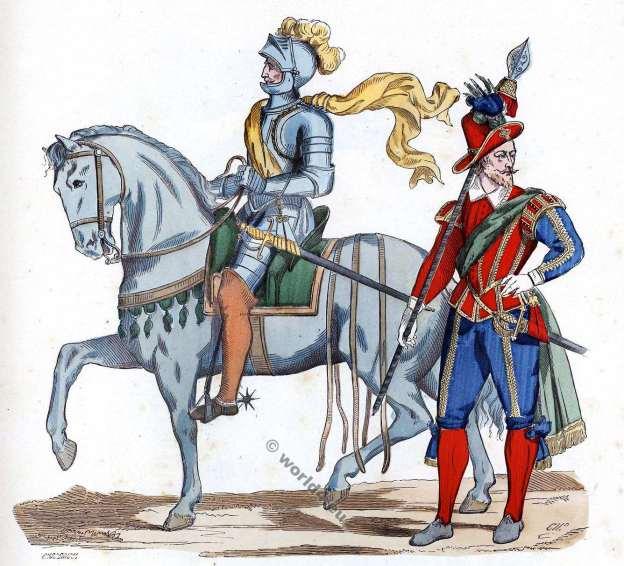 Uniforme militaire baroque. 16ème siècle. enfants d'honneur. Première compagnie.