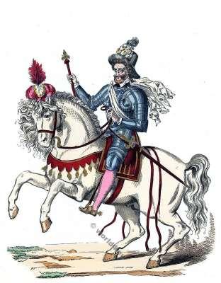 Henri IV, sceptre, chapeau, écharpe, armure,mode, baroque, 16ème, siècle, Roi de France