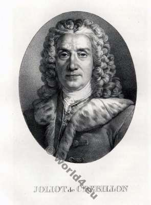 Prosper Jolyot Crébillon. French author. Rococo. Baroque. 18th century author.