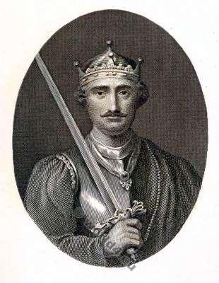 William the Conqueror. William I. Midlle ages King. Norman. Guillaume le Conquérant. 11th century costumes.