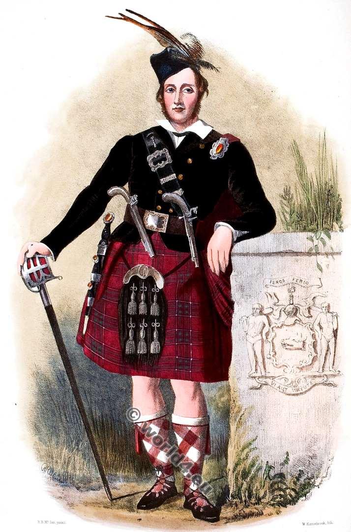Clann Siosal. Chisholms Clan. Tartan. Scotland. Clans of the Scottish Highlands.