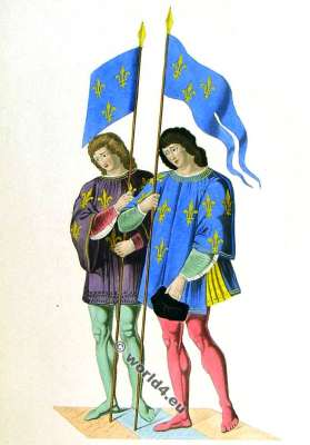 Heralds clothing. 15th century costumes. Middle ages fashion.