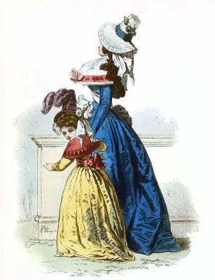 Modes Parisiennes. Mode de la Révolution française. Costume 18ème siècle