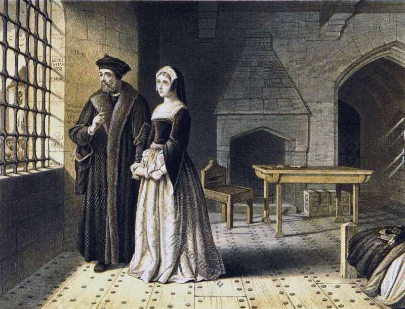 Thomas More. Margaret Roper. Tudor fashion. England history 16th century