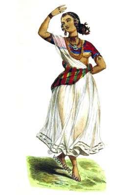 Indian dancer. Bayadere. Devadasi. Dance costume. Bayaderes. Sacred dance