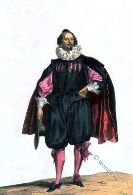 Civil suit, Baroque, fashion, Louis XIII, 17th century, costume