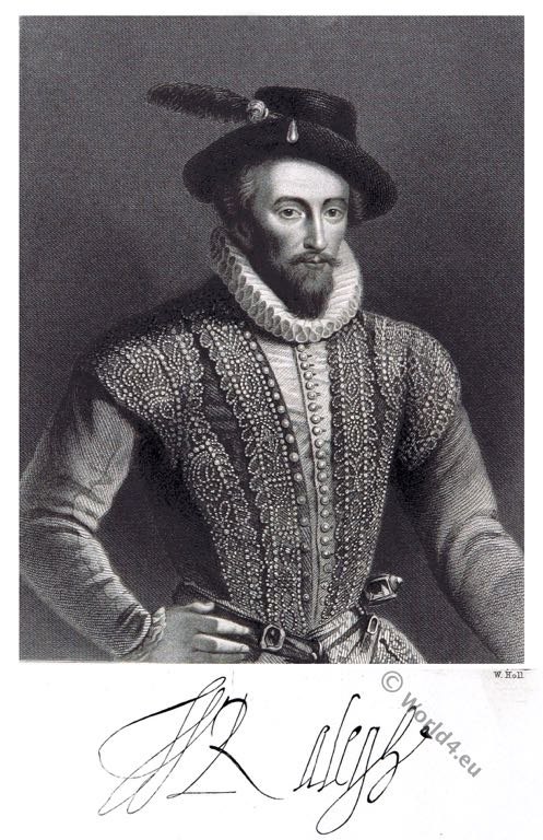 Sir, Walter, Raleigh, Elizabethan era, Tudor,