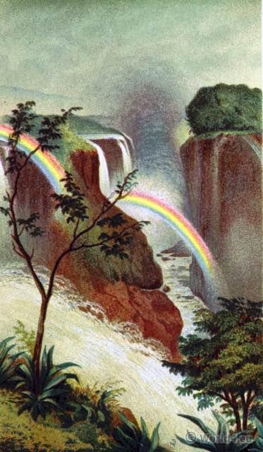 Mosi-oa-Tunya. Victoria Falls, Zambesi. Africa. Landmark. Zambia. Zimbabwe.