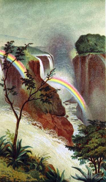 Matabele Land. Mosi-oa-Tunya. Victoria Falls, Zambesi. Africa. Landmark. Zambia. Zimbabwe.