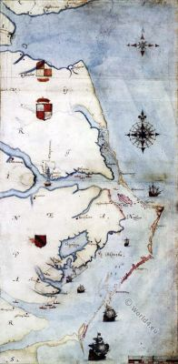 Roanoke Island Virginia. Sir Walter Raleigh