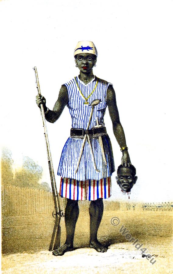 Dahohman Army. Amazon soldier. Dahomey Women Warriors. Africa military