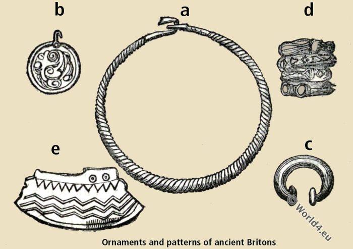 Ornaments. Patterns. Ancient Britons. Britain Archaeologia. Bronze age. British earthenware. Bracelet. Savage. Celts. Tribes