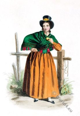 Rio de la Plata. Argentina. Costume. Traditional dress.