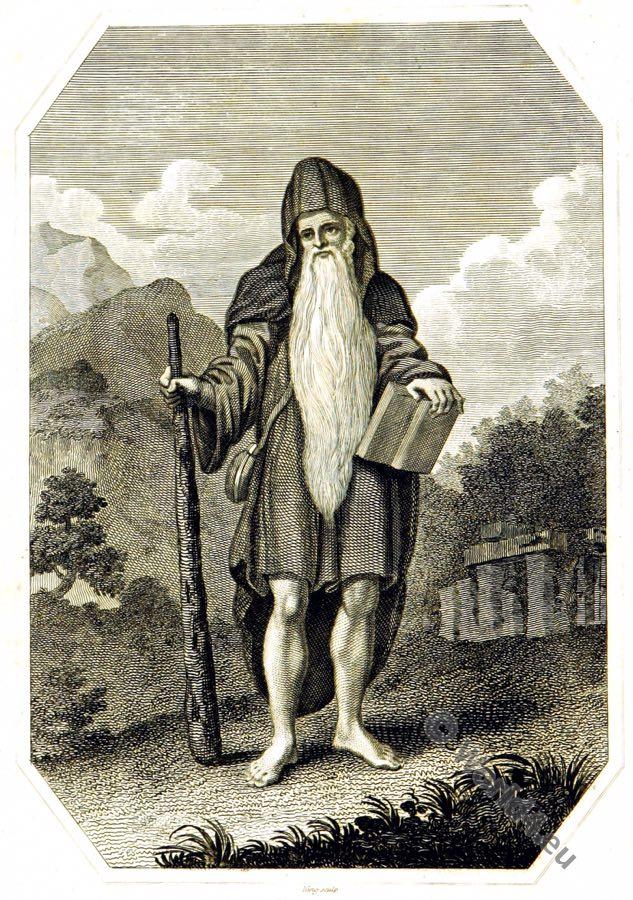 Druid, Briton, Ancient, costume, Celt, celtic