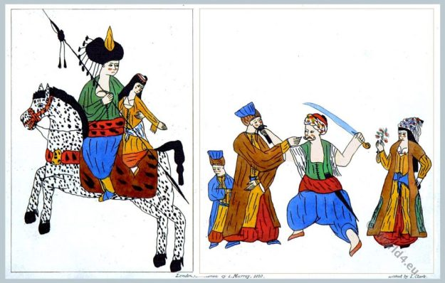 Spicimens. Turkish Drawings. Ottoman Empire. Costumes.