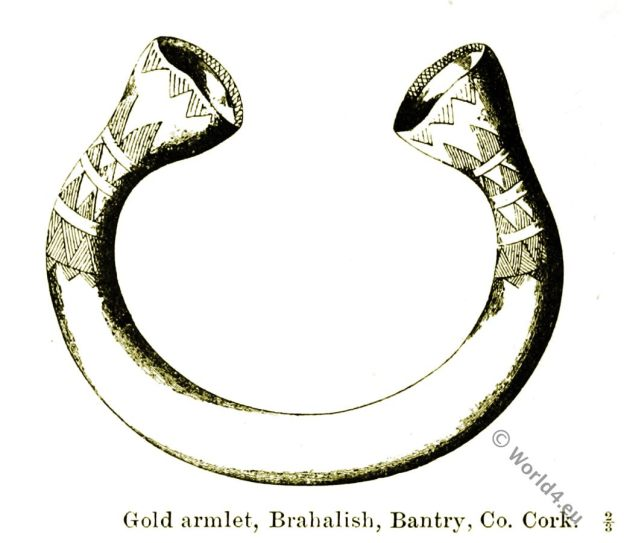 Gold armlet, Brahalisli, Baiitry, Co. Cork, Celt, celtic,British Antiquities, Bronze Age