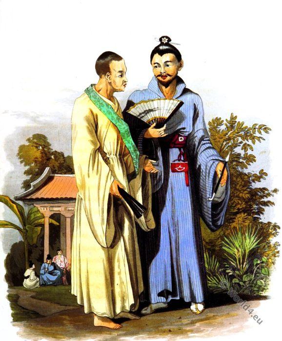 Buddhist Priest. Costumes. Okinawa Japan. Priest. Gentleman. Loo choo.