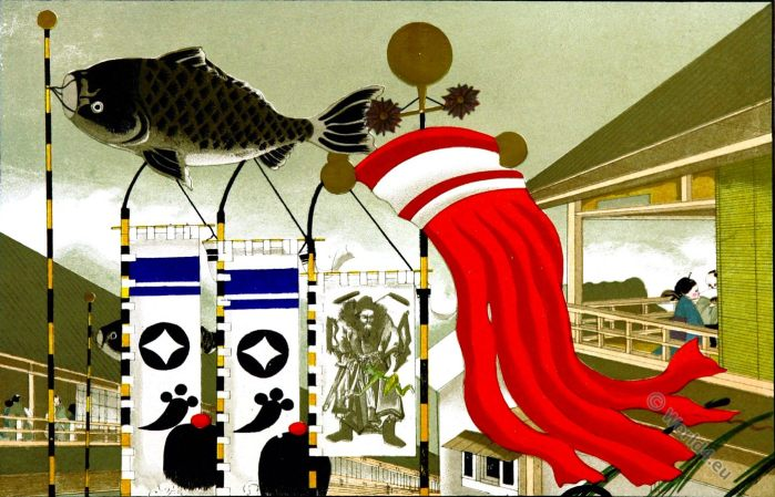 Japanese Festivals, Birth, Koi, japan symbols, Gongen Sama, fish flag, Matsuri 祭?, Shinto